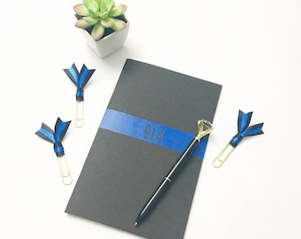Thin Blue Line Journal Gift Set - journal, clips, pen - Thin Blue Line - The Thin Blue Line Collection
