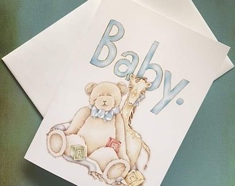 Card for newborn baby. Card for baby. New Arrival Card. Congratulations baby. New baby boy. Card for new baby. Card for baby boy.