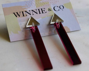 Mirrored Dangle Earrings