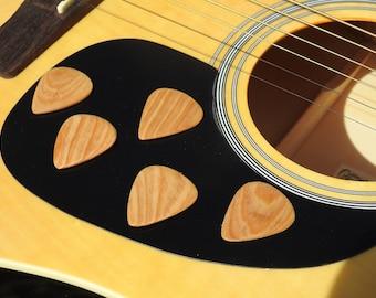 Five Cypress Guitar Picks