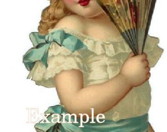 Digital Download Instant. Victorian Little Girl, So precious,,Make tags,greeting cards,frame,great for altered art