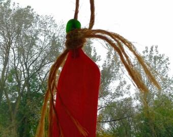 Glass pumpkin suncatcher