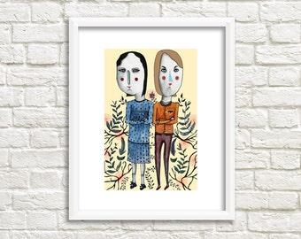 Fashion Ladies Illustration, Art Print