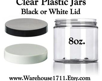 8oz. PET Clear Plastic Jar/Lotion Jar/Cream Jar/Facial Cream Jar/Storage Jar/Travel Jar/Bath Salts/DIY