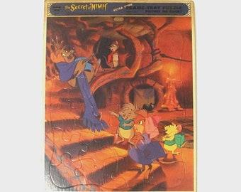 1980s Puzzle / 80s children's tray puzzle/ Secret of Nimh Puzzle