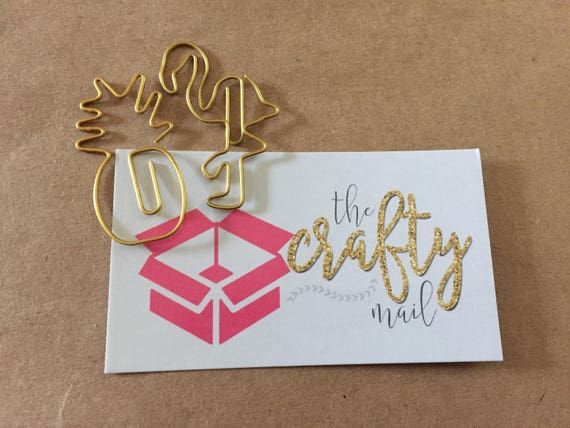 Gold Flamingo Paperclip/Gold Pineapple Paperclip/Combo Paperclip, planner clip, bookmark