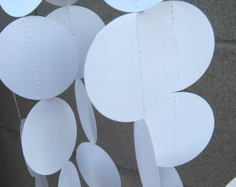 Wedding/ Baby Shower Paper Garland - White