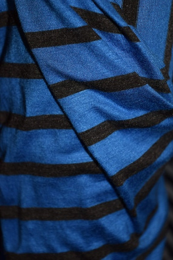 Royal Blue and Black Jersey Knit (One Yard)