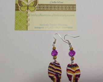 floral leaf earrings