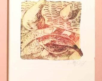flounder, Handmade paper, Cotton rag Paper, Deckle Edge Paper, Deckled Edge Paper, Racine,made by hand