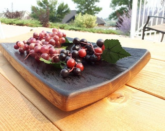 Barrel Stave Serving Platter. Made from retired oak wine barrel
