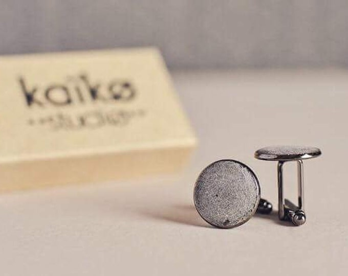 Minimalist Concrete Cufflinks   Concrete Accessories   Architectural    Geometric Jewellery