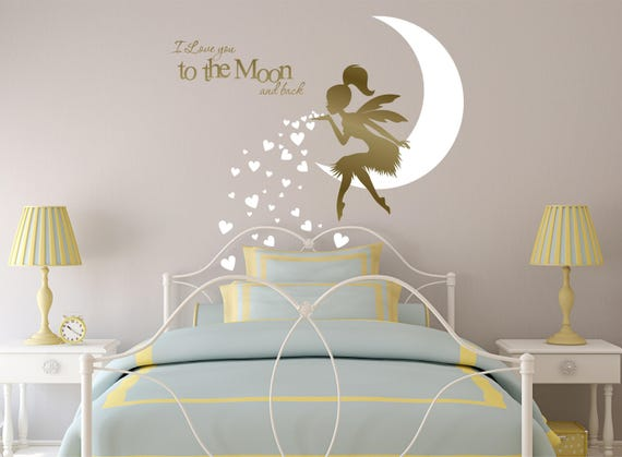 Beautiful FAIRY Wall Decal Fairy Blowing Hearts Fairy Blowing Kisses