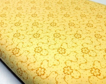 Documentaries Golden Yellow Benartex Quilting Sewing Fabrics