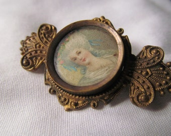 Marie Antoinette Antique Victorian French Brooch Victorian Lady Profile Edwardian Cameo Brooch Rare Antique Cameo Brooch Edwardian Jewelry
