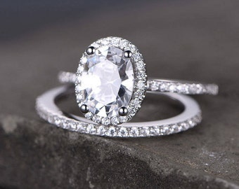 Cz oval cut ring Etsy