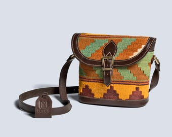 Sally Kilim Leather Cross Body Bag
