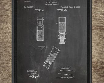 Medicine Bottle Patent | Medicine Bottle Poster | Medicine Equipment Decor | Doctor Wall Decor | Medicine Bottle Instant Download