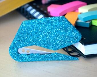 Turquoise Glitter Envelope Opener, Office Supplies, Glitter Office Supplies, Letter Opener, Turquoise Office Supplies, Glam Office