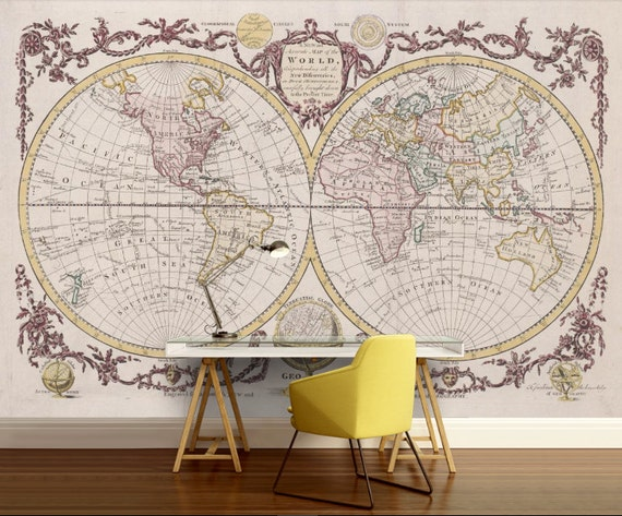 World map wallpaper antique world map wall mural vintage world map wallpaper antique world map wall mural vintage old map self adhesive vinly world map wall decal old world map wall mural gumiabroncs Image collections