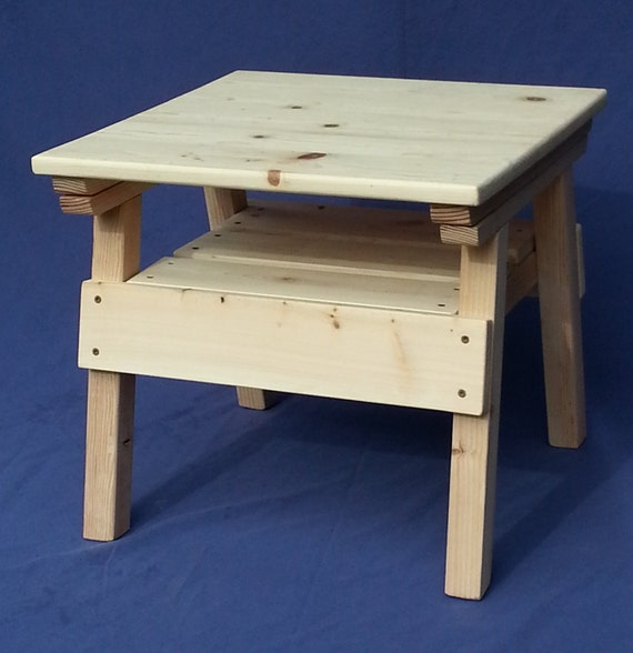DIY Project Kids Solid Wood Craft / Activity Table Toddler