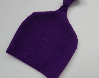 Recycled Purple Cashmere Baby Hat  12-24 months