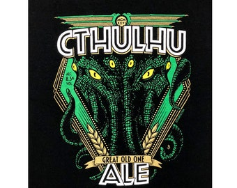 Cthulhu Ale Great Old One Lovecraft Beer T-shirt