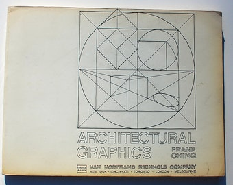 Architectural Graphics Frank Ching 1975 vintage architecture design book