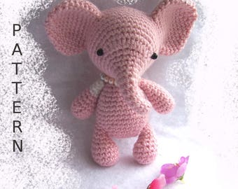 Amigurumi Patterns Elephant : Percy the baby elephant crochet pattern pdf from mostlystitchin