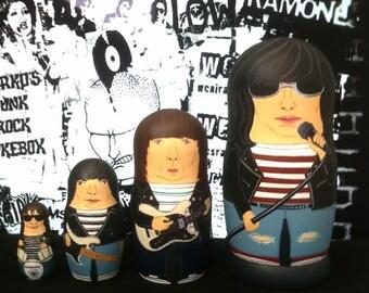 The (Mini) Ramones Matryoshka Dolls