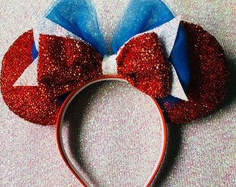 Red white and blue ears patriotic ears