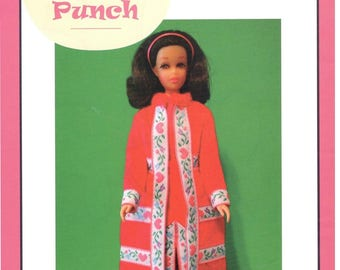 "Pattern ""PEACHY PLUSH""  by Marirose for Francie! PDF instant download complete from book ""Vintage Clothing for the Fashion Doll"""
