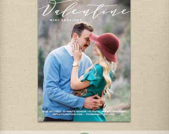 Valentine's Day Mini Session Template, Valentine Minis, Mini Session Ad, Love, Couples, Photography Special, Promo, Advertising  - E76