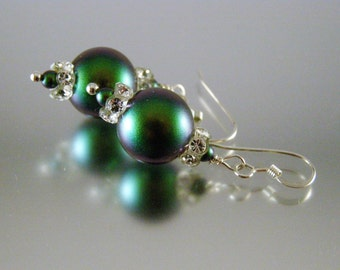 Irridescent Pearl Earrings