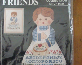 Alice Peterson KIT Best Friends Cross Stitcher Doll Counted Cross Stitch