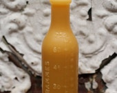 """beeswax Candles - antique bottle shaped - """"FRENCH CAFÉ"""" - by Pollen Arts - Md."""