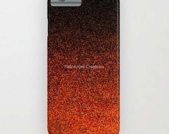 Orange and Black Glit Gradient Phone Case 18 Styles Available! - iPhone, iPod, and Samsung Galaxy!