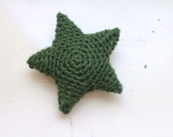 Crochet starfish, green star, cute crochet, cute amigurumi, crochet amigurumi, bowl sitter, vase filler, bright colored