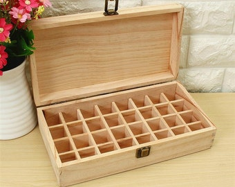 32 Holes Wooden Box for Essential Oils