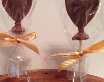 12 Chocolate Trophy Lollipops Thank you Employee Appreciation Award Ceremony Birthday Party Favors Shower Favors