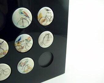 Bicycle Accessories Bike Bird Magnet Set /  tour de france Seven 1 Inch button magnets 1101
