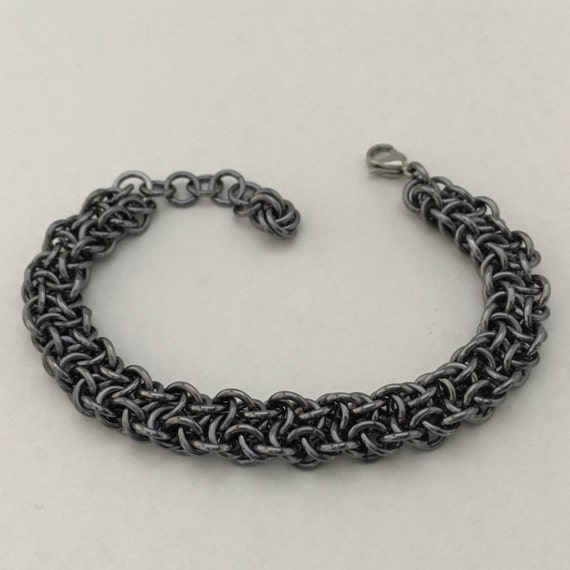 "Vipera Berus ""Northern Viper"" bracelet: gunmetal anodized aluminum"
