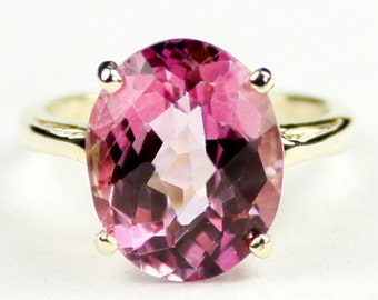 Pure Pink Topaz, 10Ky Gold Ring, R055