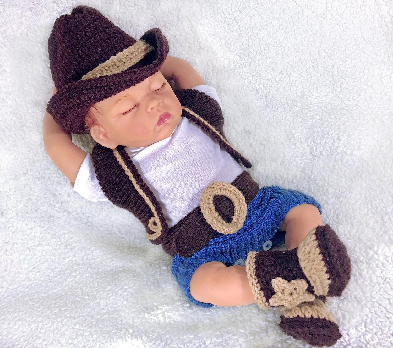 Baby Cowboy Foto Prop Baby Cowgirl Cowboy Baby junge