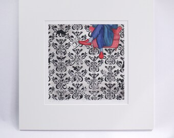 SHERLOCK «le jeu est envisagée.» de fée pieds édition limitée d'archives art imprimé signé par l'artiste 221 b baker street sherlock art holmes