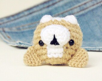 Amigurumi Corgi. Cute Corgi plushie with a bone. Crochet dog. Crochet Corgi.