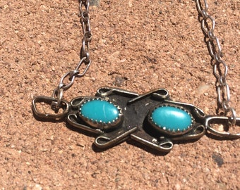 Up cycled old pawn turquoise necklace