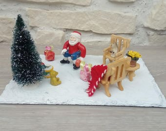Handmade diorama scene Christmas Decor gift