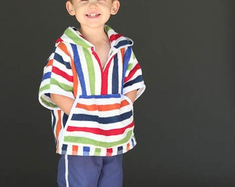 Baja Hoody PDF Sewing Pattern Boys or Girls Toddlers 18m 2T 3T 4T 5 6 7 8