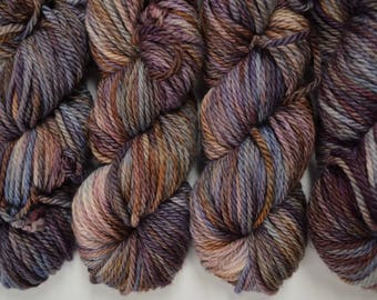 Cozy Bulky, hand dyed yarn, handdyed yarn, hand dyed bulky yarn, hand painted yarn, bulky yarn, bulky weight, Night Moves